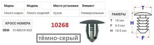 NAck 10268 Клипса   Обшив./молдин, 1-а шляпка