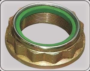 -------  K4281TR ГАЙКА   Ступицы Задн. F*TRS  -00 T12 (зел./чёрн.) R  M45х1,5 / S=64 (нейл. стопор. кольц.)