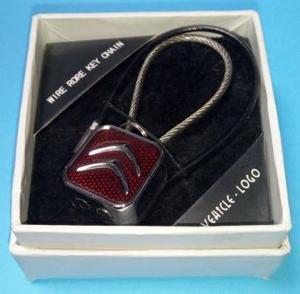 КИТАЙ K14900 Брелок   Шнурок CITROEN красный  Квадрат+2 тросика, в коробке.