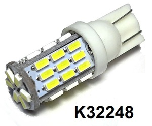 КИТАЙ K32248 Диод световой 12v   W3W (W2,1x9,5d) Бел. 15-led Canbus  Габ. б/цок.