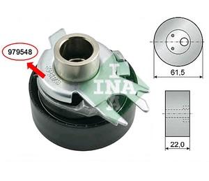INA 531 0252 30 Ролик   ГРМ A*VW* 1,4-1,6  95- натяж.  Глад. с/мех. с/эксц.