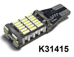 КИТАЙ K31415 Диод световой 12v   W3W (W2,1x9,5d) Бел. 45-led б/поляр+рад.  Габ. б/цок.