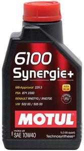MOTUL 6100 SYNERGY+ 1L Масло авто моторн.   10W40 6100 SYNERGY+   1L  П/СИНТ