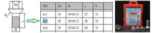HEYNER 856.380 Болт   Колёсн./секрет. Антивор к-т  F* / MB* / VW* / ST*  Тип AL