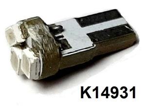 КИТАЙ K14931 Диод световой 12v   W2.3W (W2x4,6d) 1,2W Син.  3-led Canbus  Пр.панель б/цок.