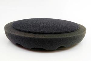 Chamaleon 49400 Абразивы   Губка Полировальная на липучку D=150mm  Волнист. чёрн. мягк. 150*25мм