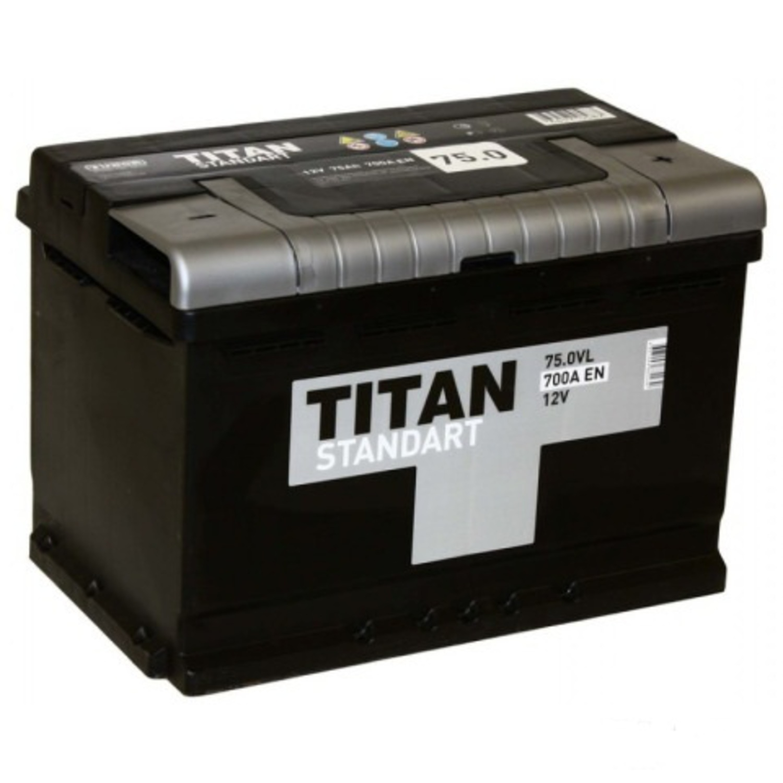 TITAN 6CT-75.0 VL/ST Акб   Свинц./кислот. европ.  75AЧ    STANDART  12V  700A  R+
