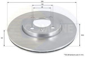 NRG N22013 Диск торм.   Передн. с/в  VW*G2/G3/P3/P4 VN