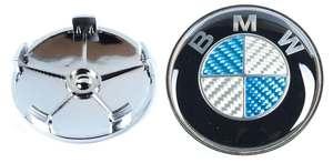 КИТАЙ K18467 Колпачок   На диск BMW  синий c отражат.  D=63.7mm/68.5mm