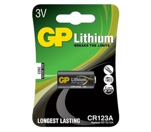 GP CR-123A Батарейка   Для фотоаппаратуры LITHIUM CR-123A U1   3V (в блист. 1шт.)