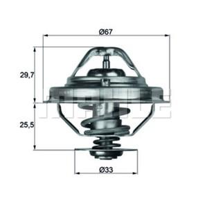 MAHLE TX3880D ТЕРМОСТАТ BM*E34/36 1.8-2.5TDS  80C  D=67mm