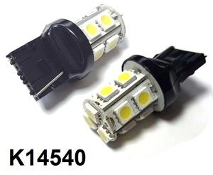 КИТАЙ K14540 Диод световой 12v   W21W (W3x16d) Бел. 13-led  1-кон. б/цок. Габ.