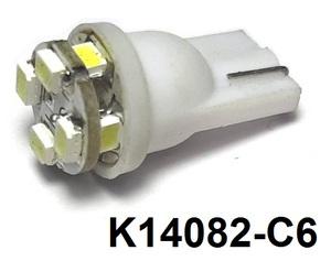 КИТАЙ K14082-C6 Диод световой 12v   W3W (W2,1x9,5d) Бел.  8-led 2-ярус  Габ. б/цок.