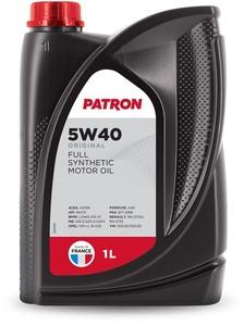 PATRON ORIGINAL-1L Масло авто моторн.    5W40 ORIGINAL 1L   СИНТ.