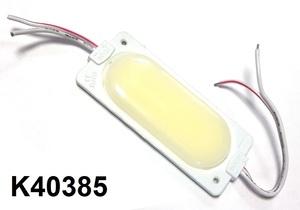 КИТАЙ K40385 Диод световой 12v   Полоса Бел. пластм.  1-led  плафон. (корпус бел.)