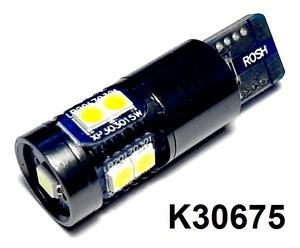 КИТАЙ K30675 Диод световой 12v   W3W (W2,1x9,5d) Бел.  9-led б/поляр.