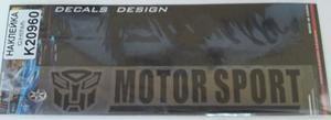 КИТАЙ K20960 НАКЛЕЙКА   Надпись MOTOR SPORT 19,0х4,0cm  надпись прозрачн черн