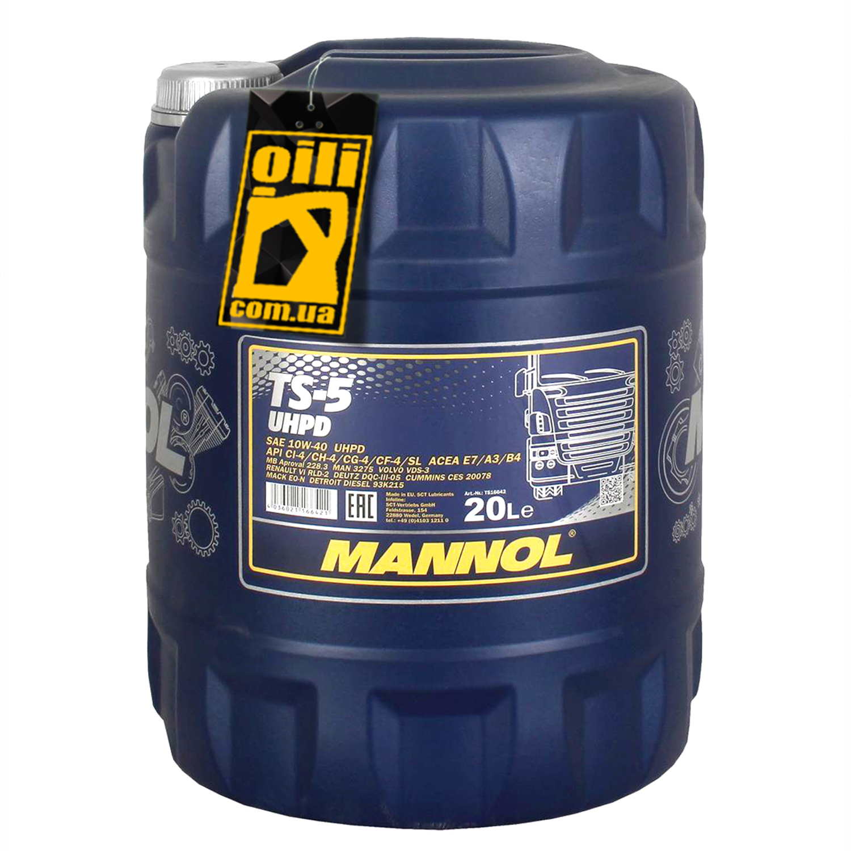 MANNOL TS 5-20L Масло авто моторн.   10W40 TS-5 UHPD  20L  П/СИНТ  большегрузы