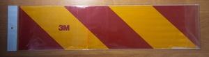 КИТАЙ K31669 НАКЛЕЙКА   Знак Габарит (полоса) 56,0х13.5cm   Светоотр. крас-желт.