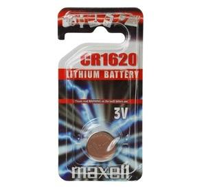 MAXELL CR1620 Батарейка   Литиевая LITHIUM CR1620   3V (в блист. 1шт.)