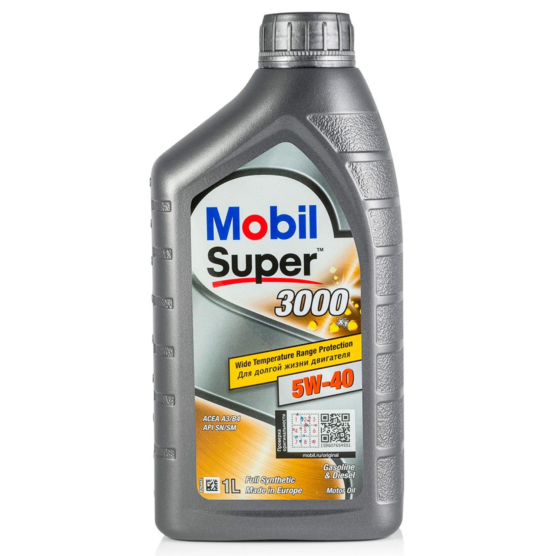 MOBIL SUPER 3000-1L Масло авто моторн.    5W40 SINT S (super 3000)        1L  СИНТ.