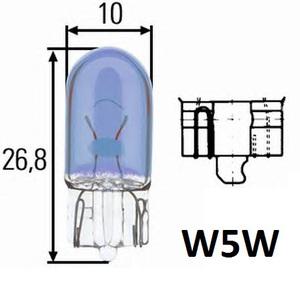 NARVA 17189 ЛАМПА 12V W 5W    W2,1x9,5d RANGE POWER BLUE+  12V  ГАБ. Б/ЦОК