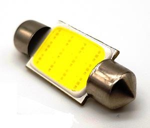 КИТАЙ K21217 Диод световой 12v   C10W (SV8,5) L=36mm 12-мал led (яркая)  Подсв. салона, багажн., номерн. знака.