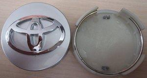 КИТАЙ K18462 Колпачок   На диск TOYOTA (серебр.фон. / хром. знак)  D=62,5mm