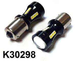 КИТАЙ K30298 Диод световой 12v   P21W (BA15s) P21W  Бел. 1-уров/симм. 18led,