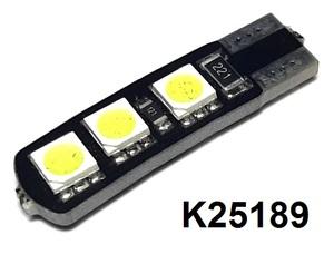 КИТАЙ K25189 Диод световой 12v   W3W (W2,1x9,5d) Бел.  6-led Canbus  Габ. б/цок.