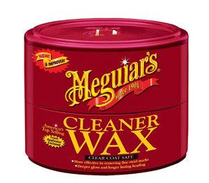 MEGUIARUS A-1214 ПОЛИРОЛЬ   Кузова С очищ. воском (банка с губкой)  Cleaner wax