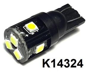 КИТАЙ K14324 Диод световой 12v   W3W (W2,1x9,5d) Бел.  7-led б/поляр. 12v/24v  Габ. б/цок.