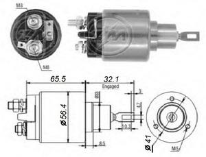 ERA ZM573 / ZM575 РЕЛЕ ВТЯГИВАЮЩЕЕ VW* 1,1/1,3 --98 / OP*CD 1,8 2,0 --91,V  под конт см.131586 / ZM573