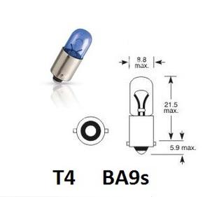 NARVA 17137 ЛАМПА 12V T4W  BA9s RANGE POWER BLUE+  12V
