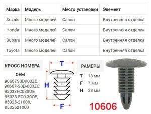 ОРИГИНАЛ A175047 Клипса   Обшив./молдин, 1-а шляпка