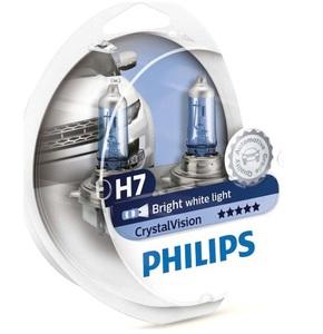 PHILIPS 12972CV -SET!!! ЛАМПА К-Т H7  55W + 2*5W  CRISTAL VISION