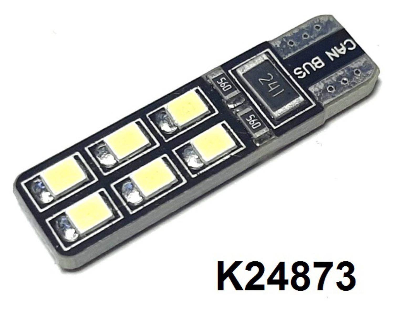 КИТАЙ K24873 Диод световой 12v   W3W (W2,1x9,5d) Бел. 12-led MB*W211  Габ. б/цок. с обманкой.