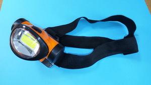 КИТАЙ K22924 Фонарик НАЛОБ. 1-led (матрица)  оранж-черн.
