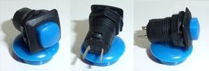 DAMMER K9733 Кнопка   Универс. Квадр. мал. син.  С/фикс.