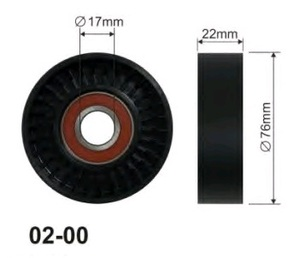 OES 01-0012 Ролик   Руч.рем. MB*A168/266 / OP*AH/AG/VEC натяж.  Глад.