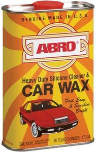 ABRO SW-300 ПОЛИРОЛЬ   Кузова С силиконом (желез.фляжка)  Car wax