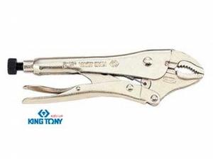 KING TONY 6011-07N Инструм. шт.   Зажим ручной С фиксатором металлич.  185mm закругл. губки