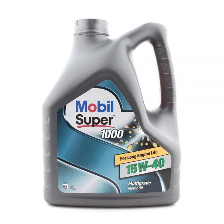MOBIL SUPER 1000-4L Масло авто моторн.   15W40 SUPER M (super 1000)   4L  Минерал. (просроченно)