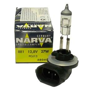 NARVA 48040 ЛАМПА 12V H27W/2  27W  PGJ13 (881)  12.8V цоколь изогнутый