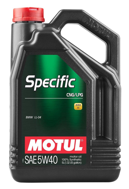 MOTUL non code Масло авто моторн.    5W40 SPECIFIC  CNG/LPG    5L  СИНТ.
