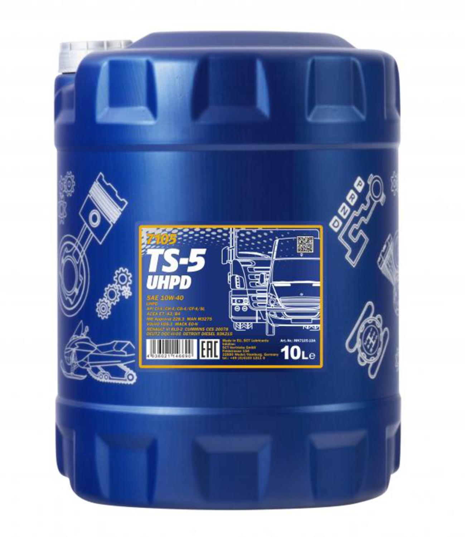 MANNOL non code Масло авто моторн.   10W40 TS-5 UHPD  10L  П/СИНТ  большегрузы