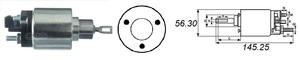 AS-PL SS0017 РЕЛЕ ВТЯГИВАЮЩЕЕ VW*P 1,6 2,0 (ход.поз) ПОД ФИШКУ  12V  0,9.1,6kW  0 001 109. …112. …211.