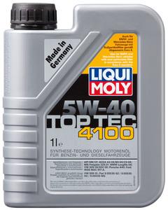 LIQUI MOLY 9510 Масло авто моторн.    5W40 4100 TOP TEC 1L  СИНТ.