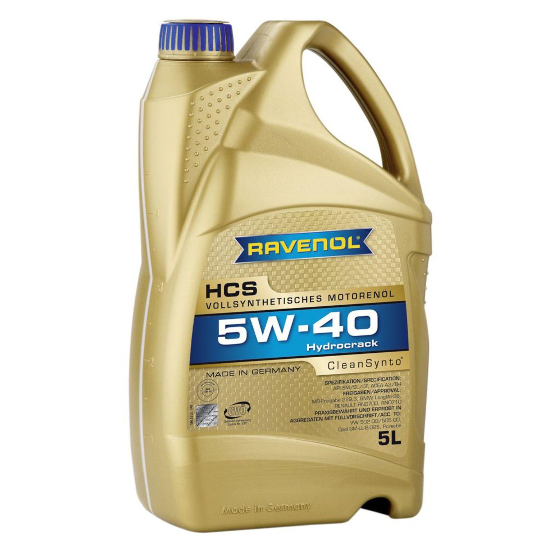 RAVENOL HCS-5L Масло авто моторн.    5W40 HCS SAE 5L  СИНТ.