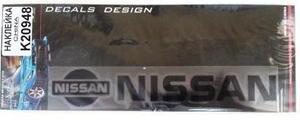 КИТАЙ K20948 НАКЛЕЙКА   Надпись NISSAN 19,0х4,0cm  надпись черн